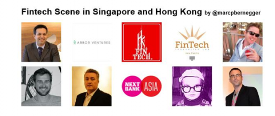 Who to follow in Fintech: Singapore, HK, France, NY, Holland. And Italy!