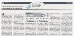 Financial News May 2015 - Artificial Intelligence